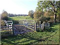 SP3767 : Kissing gate on footpath to Cubbington by David P Howard