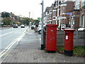 SK5837 : Postboxes on Bridgford Road by Alan Murray-Rust