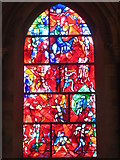 SU8504 : Stained glass window by Marc Chagall in Chichester cathedral by Rod Allday