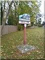 TL1586 : Glatton village sign by Marathon