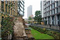 TQ3281 : Roman Wall, London by Peter Trimming