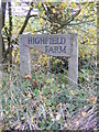 TM3685 : Highfield Farm sign by Adrian Cable