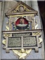 SK7953 : Memorial to John Johnson, St Mary Magdalene church, Newark by J.Hannan-Briggs
