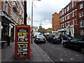 TQ2779 : Red traffic lights, Brompton Road by Peter Barr
