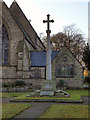 SJ9183 : Poynton; War Memorial and St George's Church by David Dixon