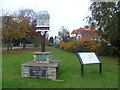 TF1406 : The village sign on the green at Etton by Marathon