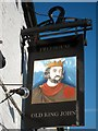 TQ8311 : Old King John sign by Oast House Archive