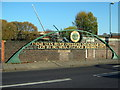 """SP0785 : Bridge Over River Rea """"Near This River Crossing Was Founded Birmingham"""" by Roy Hughes"""