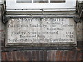 TQ3579 : Plaque on the St. Mary Rotherhithe (former) charity school by Mike Quinn