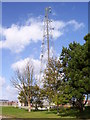 TG3334 : Communications mast at Bacton Gas Terminal by Martin Speck