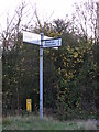 TM2572 : Roadsign at Russel's Green by Adrian Cable