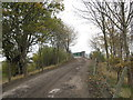 SJ6863 : Farm access road and bridge over the West Coast Main Line by Dr Duncan Pepper