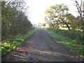 SJ6973 : The termination of Cooke's Lane beside the A556 layby by Dr Duncan Pepper