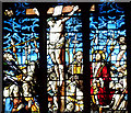 TL4457 : East window (detail) of the chapel at Peterhouse, Cambridge by Roger  Kidd