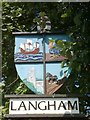 TG0041 : Langham Village Sign by Theo Foster