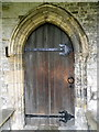 SK8065 : Door, All Saints' Church by Miss Steel