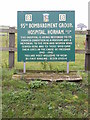 TM1873 : 95th Bombarment Group Hospital Museun sign by Adrian Cable