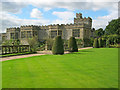 SK2366 : Lawn at Haddon Hall by Trevor Rickard
