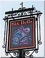 SP4914 : Six Bells (2) - sign, 70 Mill Street, Kidlington by P L Chadwick