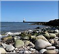 NJ9605 : South Breakwater, Aberdeen by Robert W Watt