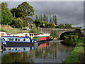 SJ5680 : Boatyard and canal at Preston Brook, Cheshire by Roger  Kidd