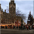 SJ8398 : Albert Square, Christmas Market by David Dixon