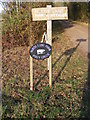 TM2575 : North Lane Farm &amp; Cottage signs by Adrian Cable