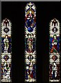 TQ4671 : St John the Evangelist, Church Road, Sidcup - Stained glass window by John Salmon