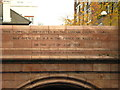 TQ3579 : Inscription on the southern entrance to Rotherhithe Tunnel by Mike Quinn