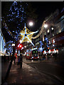 TQ2881 : Christmas Lights, Oxford Street, London W1 by Christine Matthews