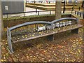 TQ3579 : Bench at the Brunel Museum, Rotherhithe Street, SE16 by Mike Quinn