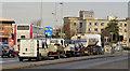J3475 : Dock Street traffic lights, Belfast by Albert Bridge