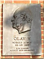 TQ3579 : Plaque on St. Olav's Church, Albion Street, SE16 by Mike Quinn