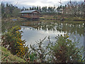 NJ8528 : Pond at Mains of Cairnbrogie by Paul Chapman