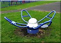 SO8377 : Exercise equipment at Springfield Park, Kidderminster by P L Chadwick