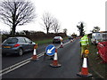 SE3990 : Roadworks on Whittaker Hill (A168) by JThomas