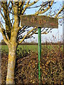 TM2976 : Cratfield Hall sign by Adrian Cable