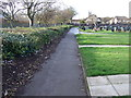 TA1868 : Path in Bridlington Cemetery by JThomas