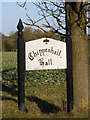 TM2775 : Chippenhall Hall sign by Adrian Cable