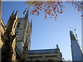 TQ3280 : Southwark Cathedral and the Shard by Christopher Hilton