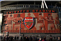 TQ3185 : Mural, Emirates Stadium by Julian Osley