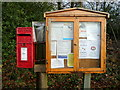 SO6002 : Aylburton Common notice board and post box by Jonathan Billinger