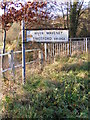 TM2482 : River Waveney sign on Shotford Bridge by Adrian Cable