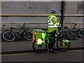 TL4458 : Cycling paramedic, Trumpington Street, Cambridge by Oliver Dixon