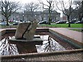 NJ9205 : Granite fountain at Albyn Place by Alan Reid