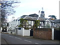 Dist:0.1km<br/>Distinctive mock Tudor house, with clock tower, on Halliford Road, Upper Halliford.