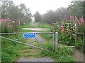 NJ9022 : Level crossing site, Formartine and Buchan Railway by Richard Webb