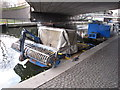 TQ2681 : Litter collecting boat, Paddington Arm, Grand Union Canal by David Hawgood