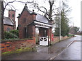 SJ8882 : Lychgate at Christ Church, Woodford by Peter Turner