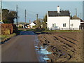 TF3123 : Former gate house and level crossing on Hog's Gate near Moulton by Richard Humphrey